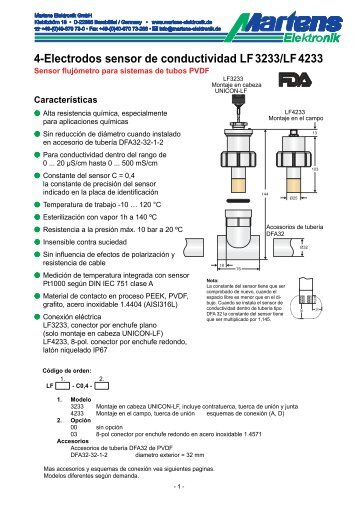 LFX233-00- Prospekt - Martens Elektronik GmbH