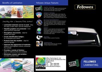 FELLOWES Laminating