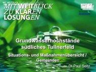 Maßnahmen im südlichen Tullnerfeld - Gemeinden