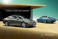 E-Klasse Coupé und Cabriolet. - Mercedes-Benz Македонија