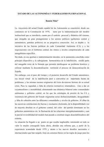 Ramón Máiz - Páxinas persoais - USC