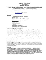 English as a Second Language Course Syllabus Mission Bay High ...