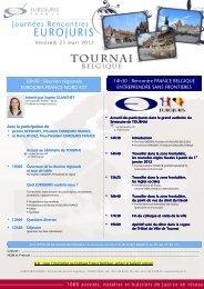 10h00 : Réunion régionale EUROJURIS ... - Janson Baugniet