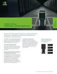 Tesla Personal Supercomputer datasheet - Nvidia