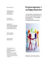 [pdf] Ergoterapeuter i socialpsykiatrien - Ergoterapeutforeningen