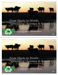 """From Waste to Worth: """"Spreading"""" Science & Solutions ... - eXtension"""