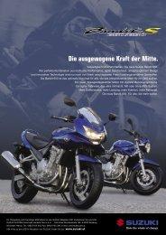 Die ausgewogene Kraft der Mitte. - Suzuki