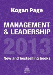 MANAGEMENT & LEADERSHIP - Kogan Page