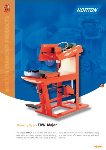 Masonry Saw EDW Major - Norton Construction Products