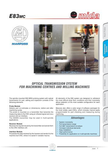 optical transmission system for machining centres and ... - Marposs
