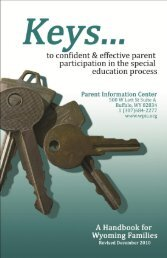 Keys Booklet - Parent Information Center