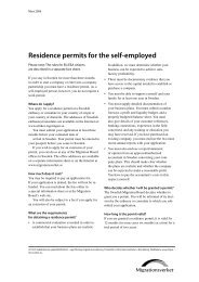 Fact sheet on residence permits for the self ... - Sweden Abroad