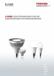 E–CorE liChttEChnologiE für diE EnErgiEwEndE ... - LED Leuchtmittel
