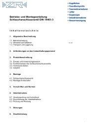 SAV Bedienungsanleitung - ZR Armaturen GmbH