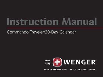 Commando Traveler / 30 Day Calendar - Wenger