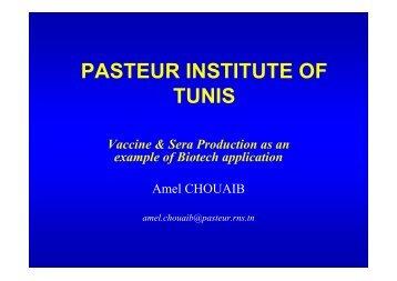 PASTEUR INSTITUTE OF TUNIS