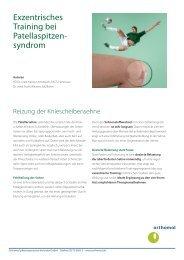 Exzentrisches Training bei Patellaspitzensyndrom Durch ... - Orthomol