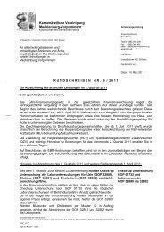 Rundschreiben Nr. 05/2011 - Kassenärztliche Vereinigung ...