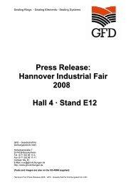 Press Release - GFD - Gesellschaft für Dichtungstechnik mbH