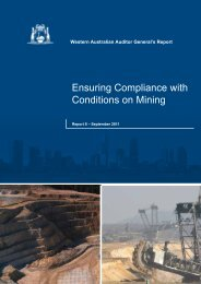 Ensuring Compliance with Conditions on Mining - Parliament of ...