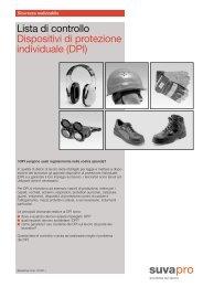 Lista di controllo: Dispositivi di protezione individuale (DPI) - Batisec