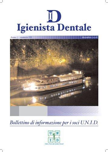 Notiziario Dicembre 2008 anno 7/Numero 3 - UNID
