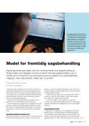 Model for fremtidig sagsbehandling - Ergoterapeutforeningen