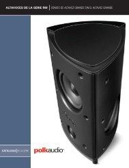 altavoces de la serie rm sonido de altavoz grande sin el ... - Polk Audio