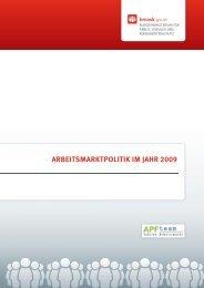 Arbeitsmarktpolitik in Österreich 2009 - Bundesministerium für Arbeit ...