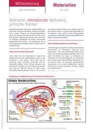 Welthandel, internationaler Wettbewerb, politischer Rahmen