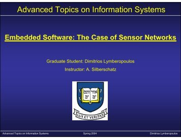 Advanced Topics on Information Systems - Zoo