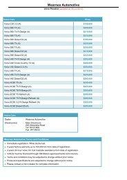 Volvo Pricelist Jul 2013 - sgCarMart