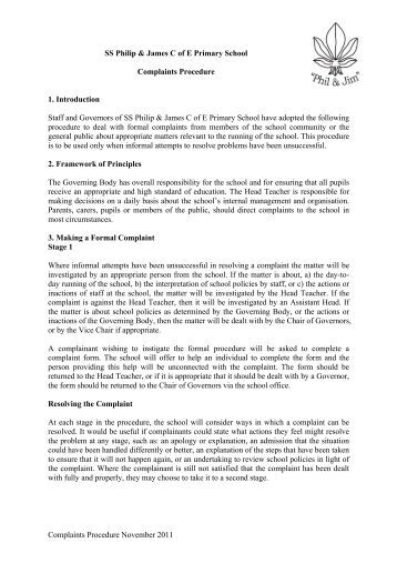 Complaints Procedure Nov 2011 - SS Philip and James