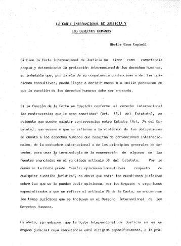 la corte internacional de justicia y los derechos humanos