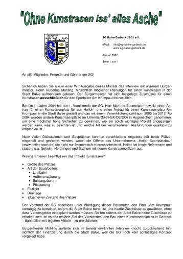 gibt es das Infoschreiben als pdf-Dokument - SG Balve/Garbeck