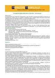 Consulter le cas clinique correspondant - Médecine tropicale