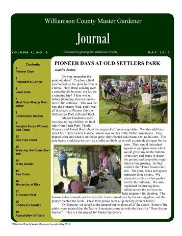 May 2010 Journal - Texas Master Gardeners Association