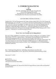 2. Änderungssatzung zur Satzung über den vollständigen oder ...