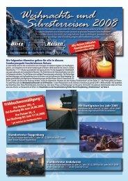 Weihnachts- und Silvesterreisen 2008 - Blitz-Reisen HomePage