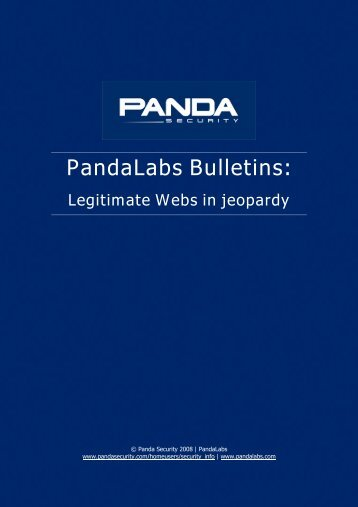 Legitimate Webs in jeopardy - Panda Security