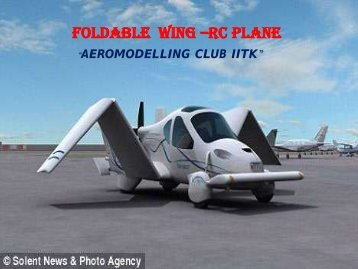 The Retractable Wing RC Aeroplane