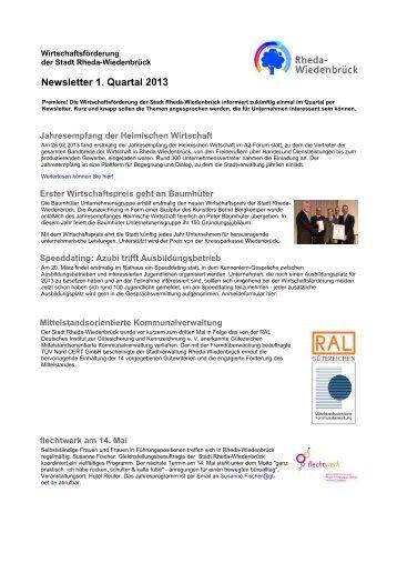 Newsletter 1. Quartal 2013 - Rheda-Wiedenbrück