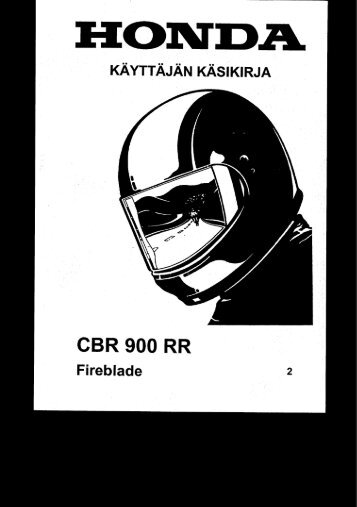 CBR900RR 2002-2003 käsikirja (.pdf, 2.45 MB) - Honda