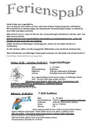 Ferienprogramm 2013 - Wettringen