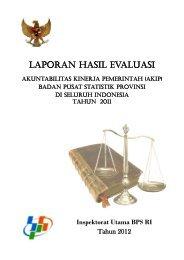 LAPORAN HASIL EVALUASI - Badan Pusat Statistik
