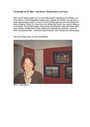 Vernissage am 25. März - Anja Brach, Seidenmalerei und Fotos ...
