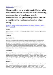 Dosage effect on uropathogenic Escherichia coli anti-adhesion ...