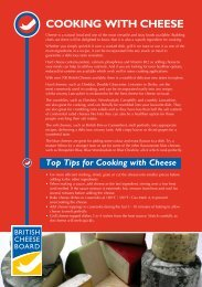 COOKING WITH CHEESE - British Cheese Board