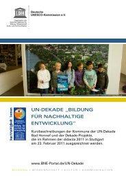 Kurzbeschreibungen der Dekade-Projekte - Bildung für nachhaltige ...