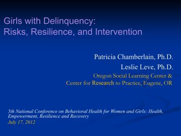 Girls with Delinquency: Risks, Resilience, and Intervention - Women ...